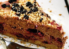 torta sa cokoladom i borovnicama